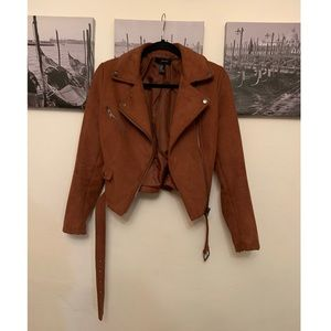 Burnt Orange Suede Jacket